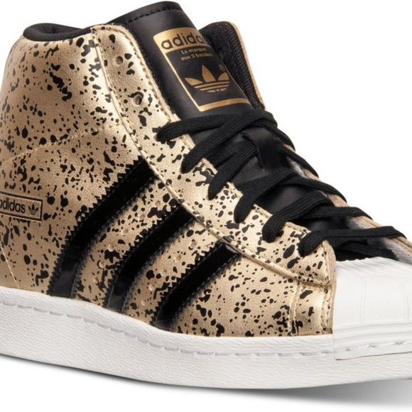 c8b35c48dec7 adidas Shoes - Adidas Originals Superstar Up High Top Gold